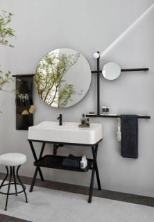 ekskluzywna umywalka wolnostojąca, kolorowe umywalki, minimalizm w łazience