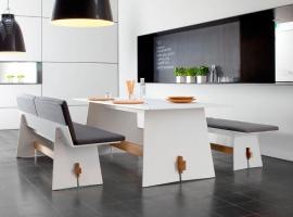 stół prostokątny z hpl; designerskie meble do jadalni; designerski stół