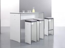 stół prostokątny z hpl; designerskie meble do ogrdu; designerski stół; stół barowy