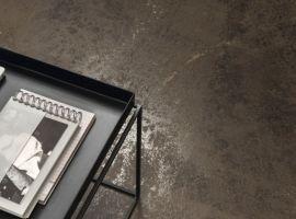 ariostea; płyty wielkoformatowe; nowoczesne wnętrze; efekt metalu