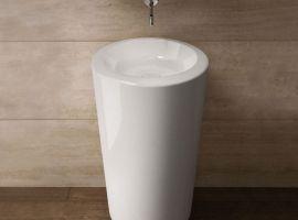 nowoczesna umywalka; elegancka umywalka wolnostojąca; wyposażenie łazienek; umywalka z ceramiki