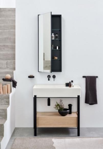 Nowoczesna umywalka wolnostojąca, kolorowe umywalki, kolorowa ceramika, włoskie umywalki