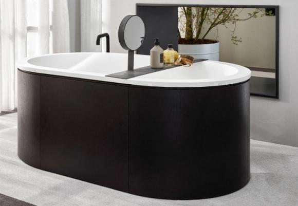 nowoczesna wanna; ekskluzywne wnętrze łazienki; elegancka łazienka