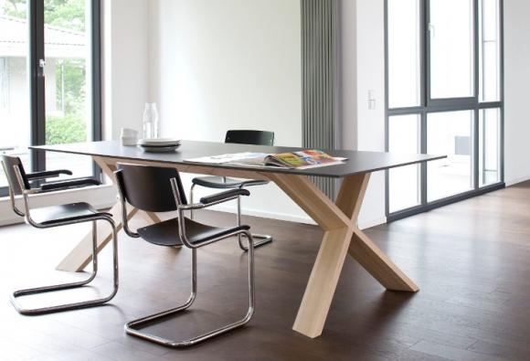 nowoczesny stół; designerskie meble do salonu; stół odporny na zadrapania; stół prostokątny z hpl;