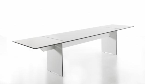 stół prostokątny z hpl; designerskie meble do jadalni; designerski stół; rozkładany stół
