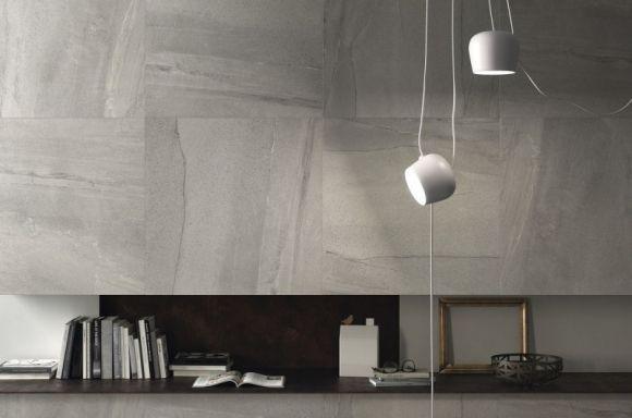 ariostea; płyty wielkoformatowe; nowoczesne wnętrze; efekt kamienia naturalnego