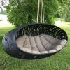 nowoczesne meble z lawy wulkanicznej; wytrzymała bujaczka ogrodowa;